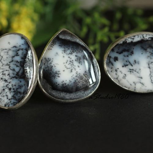Buy Unique Dendritic Opal Statement Ring Artisan Gemstone