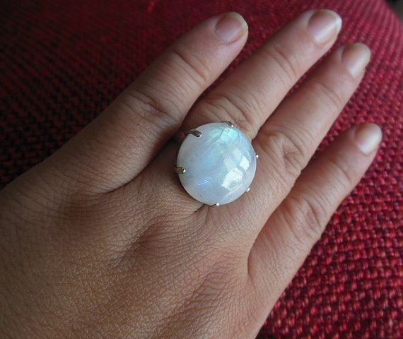 Unique moonstone ring Jewelry gift