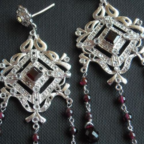 Victorian style earrings Bridal chandelier