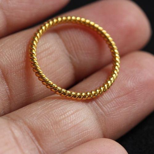 Wedding Band 22k Yellow Gold Ring Handmade