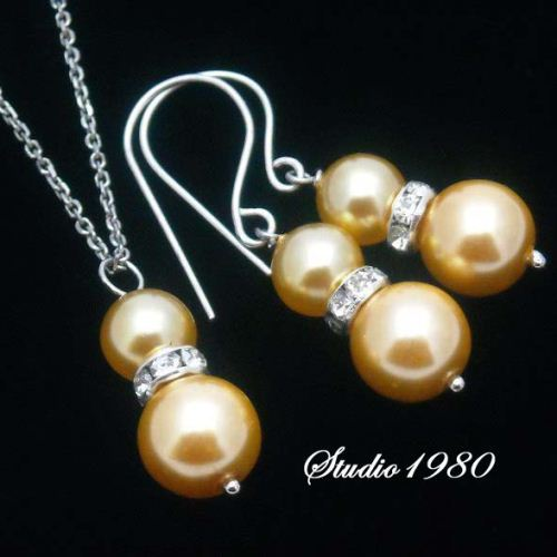 Wedding jewelry Bridemaids gifts silver