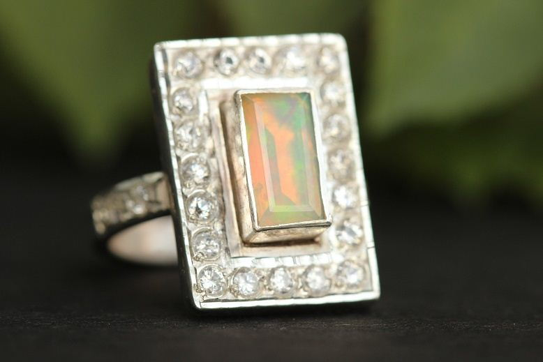 Buy Artisan Statement Opal Ring Opal Silver Rings For