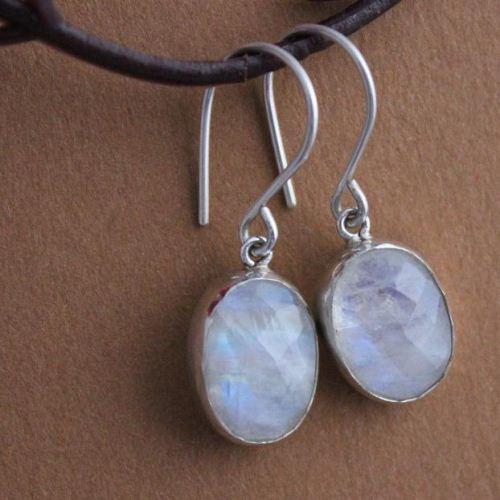 Buy Rainbow Moonstone Earrings Sterling Silver Dangle Earrings Online At Astudio1980 Com